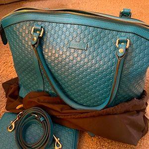 Gucci  monogram satchel big bag and wallet